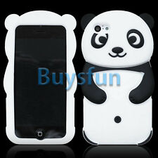 Black Cartoon Cute Panda Soft Silicone Cover Case For Apple iPhone 5C