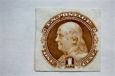 Scott # 112 Us Franklin One Cent 1869 India Proof Pictorial Stamp Thin Paper No.