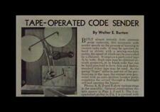Telegraph Code Sender 1944 HowTo build PLANS Practice Machine