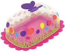 Pylones Butterfly Butter Cheese Dish Tray Decoration Pink Polka Dots 23779 PK