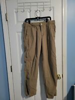 COLUMBIA PANTS Beige SOLID 100% COTTON OUTDOOR CASUAL MENS 33 X 32 hiking, camp