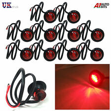 10X 24V OUTLINE ROUND SIDE MARKER 3 LED RED LIGHTS LAMPS FOR LORRY TRAILER TRUCK