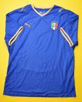 4.9/5 ITALY 2008~2009 ORIGINAL FOOTBALL SOCCER HOME SHIRT JERSEY PUMA SIZE XL