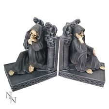 Nemesis Now The Book Keepers  27cm Grim Reaper Book Ends  gothic fantasy