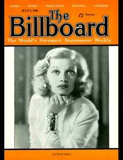 LUCILLE BALL On THE BILLBOARD MAGAZINE Cover 11x14 Print SUPER RARE July 2, 1938