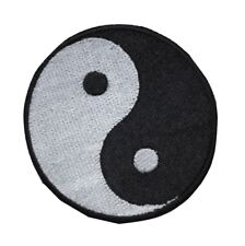Yin Yang Taoism Duality Balance Embroidered Hook and Loop Patch