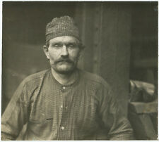 Lewis HINE: Polish Ironworker, Pittsburgh, PA, 1908 / VINTAGE / SIGNED! / LH104