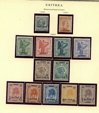 Italy   Eritrea  1920's    hinged      mint  stamps