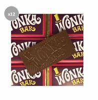 12 x 50g WONKA MILK CHOCOLATE BARS FIND GOLDEN TICKET CHANCE WIN TRIP DISNEYLAND
