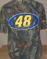 Jimmie Johnson Vintage CAMO Chase NASCAR Lowe's Racing Team T-Shirt  Large