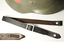 "JUGULAIRE CASQUE ALLEMAND WW2  ""0/0750/0400"" cuir brun"