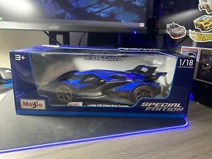 MAISTO 31454 LAMBORGHINI V12 VISION GRAN TURISMO 1/18 DIECAST MODEL CAR BLUE