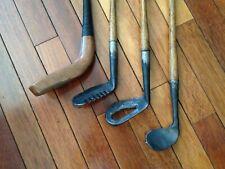 Hickory Hand Made Scotland Replica Rake-Water-Rut Irons Long Nosed Wood Putter!