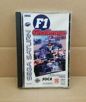 F1 Challenge (Sega Saturn, 1996) Video Game Complete With Manual - CRACKED CASE