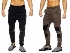 Unifarbene Slim-Fit-Herrenhosen im Jogginghosen-Stil