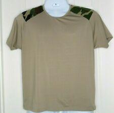 PISTOL PETE Shirt XL Extra Large Camo Camoflauge Desert Sand Tan Top Stretch