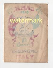 More details for royal warwickshire regiment menu card, valdagno, italy, 1918
