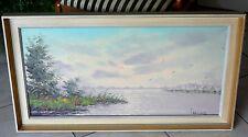 Blick auf den sommerlichen See, Öl / Lwd. - signiert