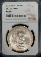 20 Lincoln Bicentennial Silver $1 Commemorative NGC MS69 *1000