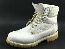 "Timberland 17565 White All leather 6"" Premium Boots Size 7.5 US. UK.7 EU.40-41"