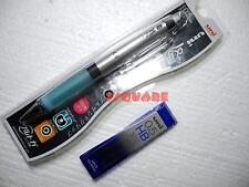 1x Uni-ball Kuru Toga Alpha gel 0.5mm Mechanical Pencil + Pencil leads, Blue