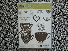 Stampin Up ! A Nice Cuppa Clear Photopolymer Stamp Set 11 Stamps ~ NIP