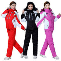 Women's Winter Waterproof Outdoor Coat Pants Ski Suits Jacket Snowboard Clothing