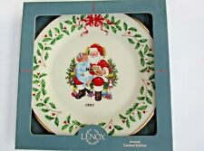 Lenox 1997 Christmas List Holiday Plate - New in Box - Box not perfect