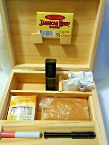 Stash Box with Tray for Tobacco With Papers One Hitter Grinder Dugout Bat