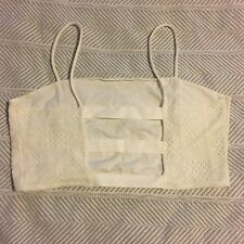 American Eagle Outfitters Strappy Crop Top Bralette White Lace XL EUC Worn Once