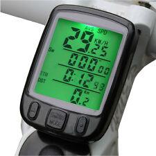 Waterproof Wired Bike Bicycle Computer Odometer Speedometer LCD Backlight