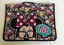Minnie Mouse Disney Store Notebook Case Pink Binder Authentic School Supplies