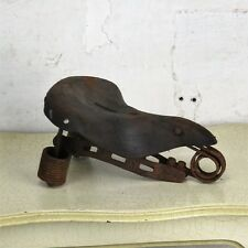 Antique Leather Cyclobel Holland Motorcycle Bicycle Saddle Seat Spring Vintage