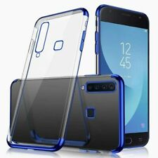 Samsung Galaxy A9 2018 Clear Soft Silicone TPU Case with Plating Frame