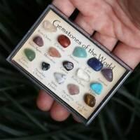 15Pcs Natural Healing Crystal Gemstones Reiki Chakra Collection Stone Specimen !