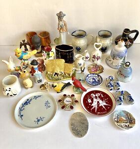 Lot of 36 Collectibles Vintage & Current Smalls Porcelain Limoges Ansley Delfts