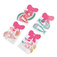 PAIR Cute Baby Girls Kids Children Hair Accessories Slides Snap Hair Clips Gift