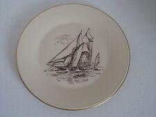 Lenox Clipper Ship Brown Gold Rim Dinner Plate