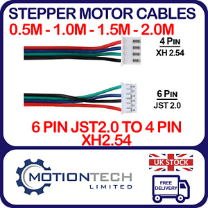 Nema17 4 wire Stepper Motor Cable - 4 Pin XH 2.54 / 6 Pin JST2.0 Connector