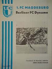 Programm 1981/82 1. FC Magdeburg - BFC Dynamo