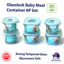GLASSLOCK 6p Glass Food Container Baby Meal Storage Microwave Safe BPA Free Set