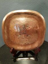 "Los Castillo Taxco Mexico Tray Mid Century Modern Sterling-Copper  7""x 6.5"""