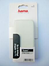 Apple iPhone 4/4s Flap Case / Leder-Handytasche Frame -weiß-Smart Hülle 00104528