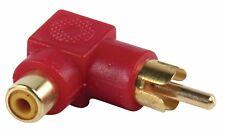 4 x Stereo Audio PHONO / RCA Adaptor - Red & Black Angled 90° female > male