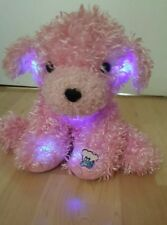 GloE glows up dog in pink / light up animal toys/soft poppy dog