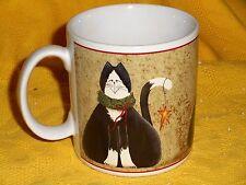 "SAKURA CHRISTMAS CATS FIDDLESTIX MUG 3 1/2 X 3 3/4"" MINTY COND"