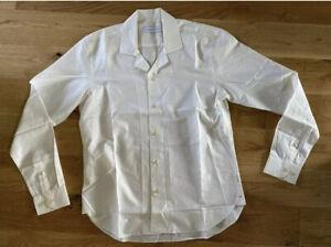 Orlebar Brown Lightweight Cotton Shirt Size Medium Resort Wear Cream New 🇬🇧