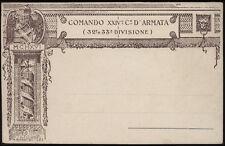 cartolina militare COMANDO XXIV° C° D'ARMATA 32-33 DIVISIONE