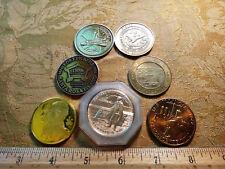 Lot Of 7 Vintage Medals - Alaska, Illinois, Columbia etc.. - Free S&H USA