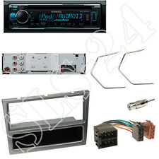Kenwood KDC300UV CD/USB Radio Opel Vivaro Combo Blende aluminium + ISO Adapter